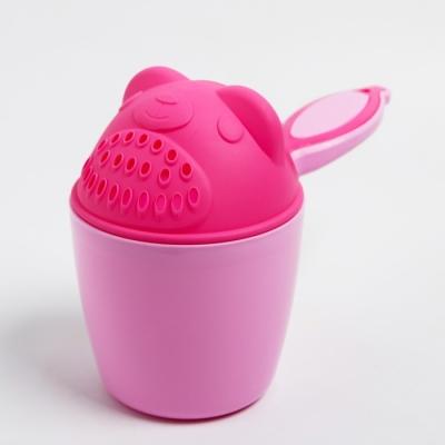 Ковш для купания детский «Мишка», 600 мл., цвет розовый