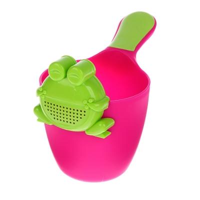 Ковш для купания детский с лейкой-насадкой «Лягушонок», 0,65 л, цвет МИКС