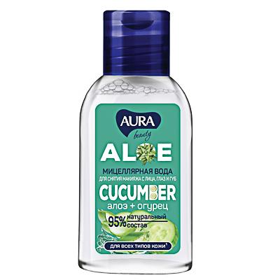 Мицеллярная вода AURA Beauty Алоэ+Огурец, 50мл