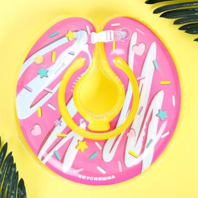"""Круг на шею """"Пончик"""" от 1 мес, двухкамерный, с погремушками"""