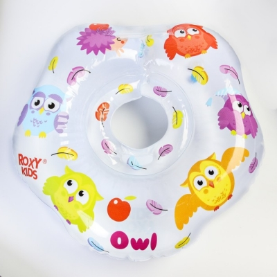 Надувной круг на шею для купания малышей Owl