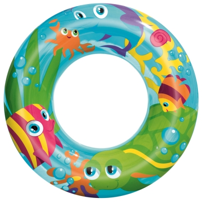 Круг надувной для плавания «Морской мир», d=56 см, цвета МИКС, 36013 Bestway