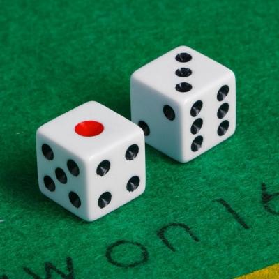 Кубики игральные 1.6 × 1.6 см, набор 2 шт., пластик