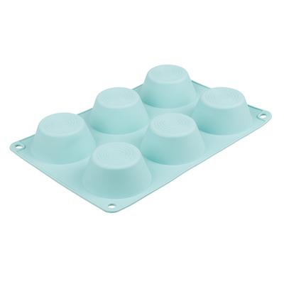 VETTA Форма силиконовая 6 ячеек, для булочек, 24,5х16,5x3см, 3 цвета, HS-006D