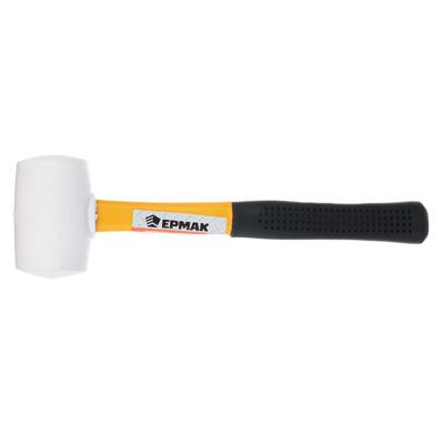 ЕРМАК Киянка, белая резина, фибергласовая обрезиненная рукоятка 225гр
