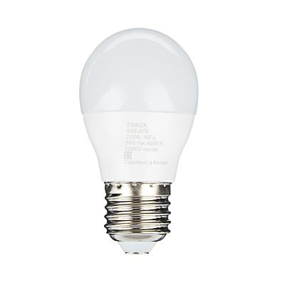 FORZA Лампа светодиодная G45 7W, E27, 560lm 4000К