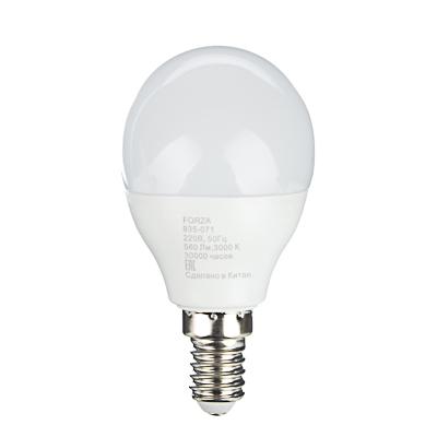 FORZA Лампа светодиодная G45 7W, E14, 560lm 3000К