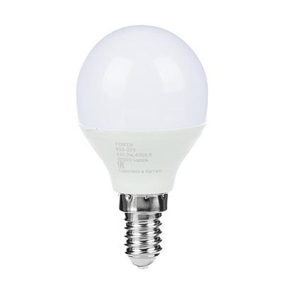 FORZA Лампа светодиодная G45 5W, E14, 420lm 4000К