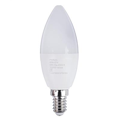 FORZA Лампа светодиодная свеча С37 7W, E14, 560lm 4000К