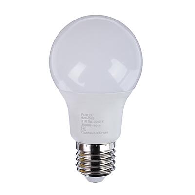 FORZA Лампа светодиодная A60 6W, 3000K, 510lm E27
