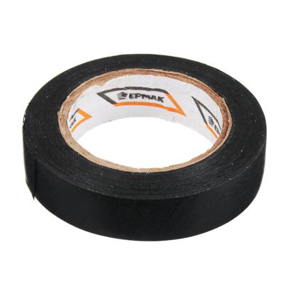 ЕРМАК Изолента ПВХ в/с черная, шир. 15+-2мм, 7,5 м, толщ 0,2мм