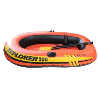 Лодка Explorer 300, 3 местная, 211 х 117 х 41 см, от 6 лет, вёсла, насос, до 186 кг, 58332NP INTEX