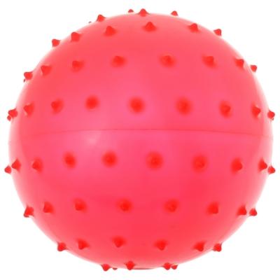 Мячик массажный, матовый пластизоль, d=18 см, 43 г, МИКС