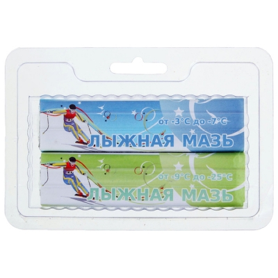 Мазь лыжная, комплект из 2 брусков, С-СЗ, (от -3 до -25°C), 80 г