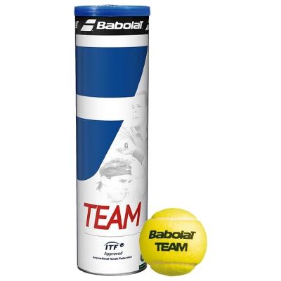 Мяч теннисный BABOLAT Team 4B,арт.502035,4 шт, ITF
