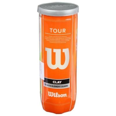 Мяч теннисный WILSON Tour Clay, ITF и USTA, фетр, натуральная резина, 3 шт