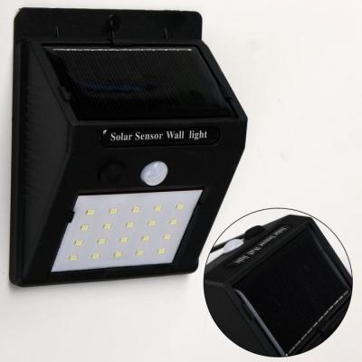 Фонарь настенный, 20 LED, солнечная батарея, 800 мАч, датчик движения