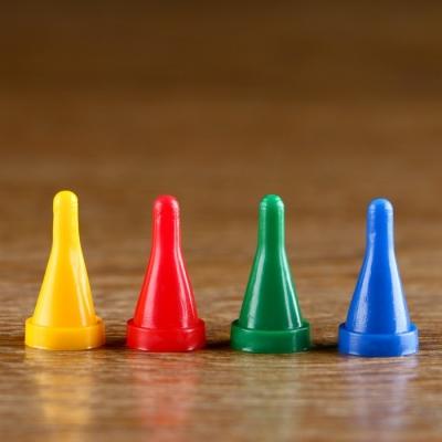 Набор конусных фишек, р. 1,2х2,3 см 4 шт.