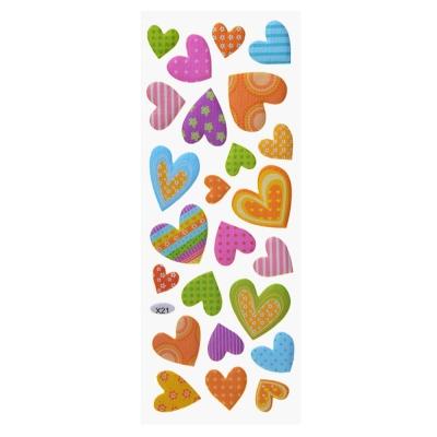 Наклейка детская, 27x9,5см, пластик, 7-9 дизайнов, арт.12-09