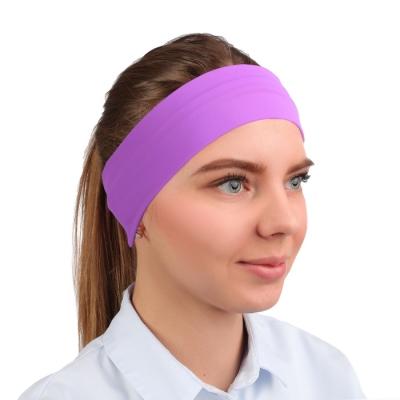 Повязка на голову, бифлекс, цвет сиреневый