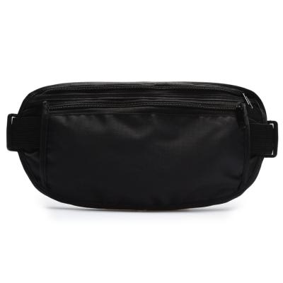 Сумка спортивная на пояс 25 х 13 см, цвет черный