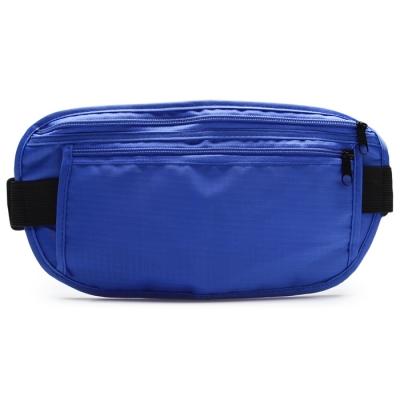 Сумка спортивная на пояс 25х13 см, цвет синий