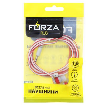 FORZA Наушники вакуумные, PP-пакет, двухцветный провод, 3 цвета