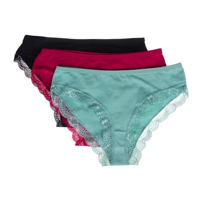 GALANTE Трусы-слипы женские с кружевом, 95% хлопок, 5% спандекс, р-ры 42-48, 2-3 цвета