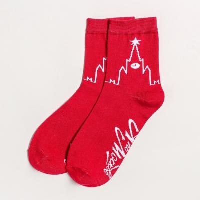 Носки женские KAFTAN «Москва», р. 36-40 (23-25 см), красные