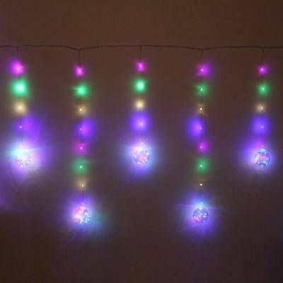 """Гирлянда для дома БАХРОМА """"Шар"""" ш2,5 м* в0,5/0,8м 200 ламп LED, d-8 см, IP-20, Мультицвет"""