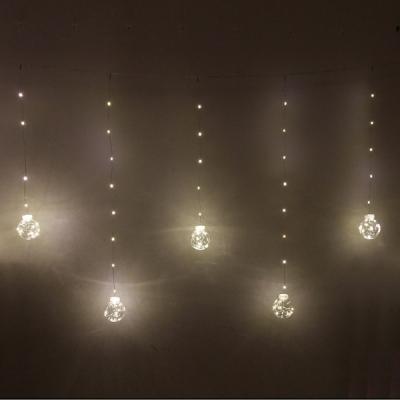 """Гирлянда для дома БАХРОМА """"Шар"""" ш2,5 м* в0,5/0,8м 200 ламп LED, d-8 см, IP-20, Белый"""