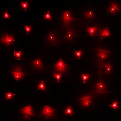 Гирлянда для дома 2,5м 24 лампы LED прозрач.пров.,8 реж, IP-20, Красный