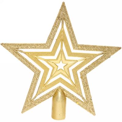 """Звезда на ёлку 20см """"Волшебство ночи"""" Золото"""