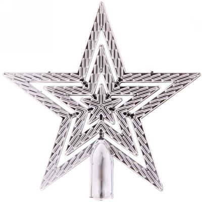 """Звезда на ёлку серебро 9,5 см """"Классика"""""""