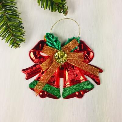 """Украшение новогоднее """"Колокольчики яркий"""" 13*9,5 см, Красный"""