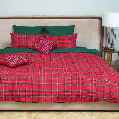 PROVANCE Шотландка Комплект постельного белья евро (4 пр.), поплин 110гр/м, 100% хлопок