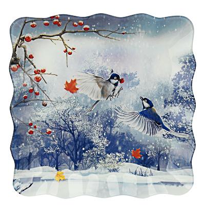 Зимушка-зима Блюдо квадратное 25х2см, стекло