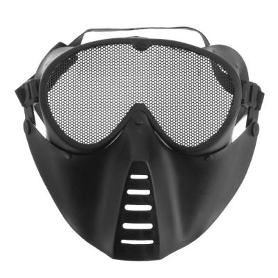 Очки-маска для езды на мототехнике, грязезащита, армированные, черный