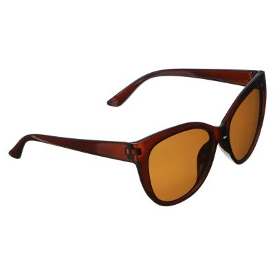 Очки солнцезащитные женские, пластик, 3-4 цвета, 15х5,7см, KC522007