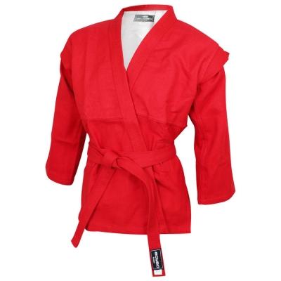 Куртка для самбо BoyBo, цвет красный,