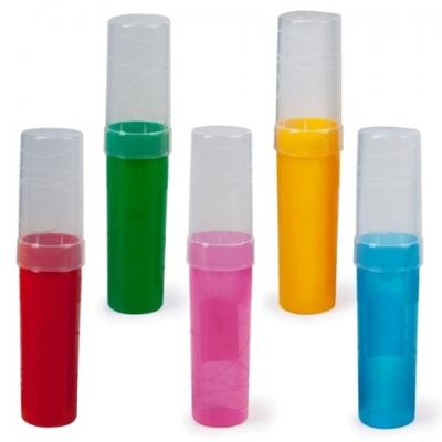 Пенал-тубус СТАММ, пластиковый, 190х45 мм, 5 цветов ассорти, ПН02