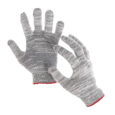 Перчатки, х/б, вязка 10 класс, 5 нитей, размер 9, без покрытия, серые