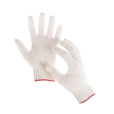 Перчатки, х/б, вязка 7 класс, 5 нитей, размер 9, без покрытия, белые