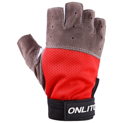Перчатки спортивные, размер M, цвет красный