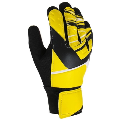 Перчатки вратарские, размер 6, цвет жёлтый