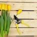 INBLOOM BY Секатор садовый, 20,5см, сталь 65, возвратная пружина, PР+TRP рукоять