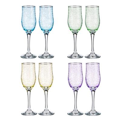 Набор бокалов 2шт для шампанского, 200 мл, с гравировкой, 4 цвета