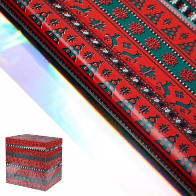 """Пленка металлизированная """"Северные олени"""", красный, 50 х 70 см"""