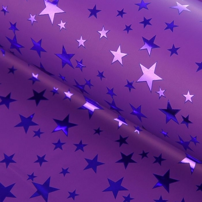 """Пленка голография """"Звёзды"""", фиолетовый, 70 х 100 см"""