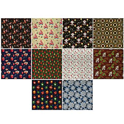 СНОУ БУМ Бумага упаковочная, 70х100см, мелованная, 65-70г, 10 дизайнов